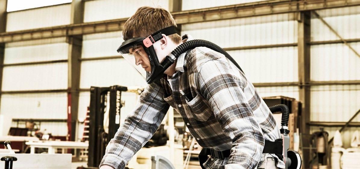 Motor- eller vifteassistert åndedrettsvern - Scott Duraflow viftepakke.